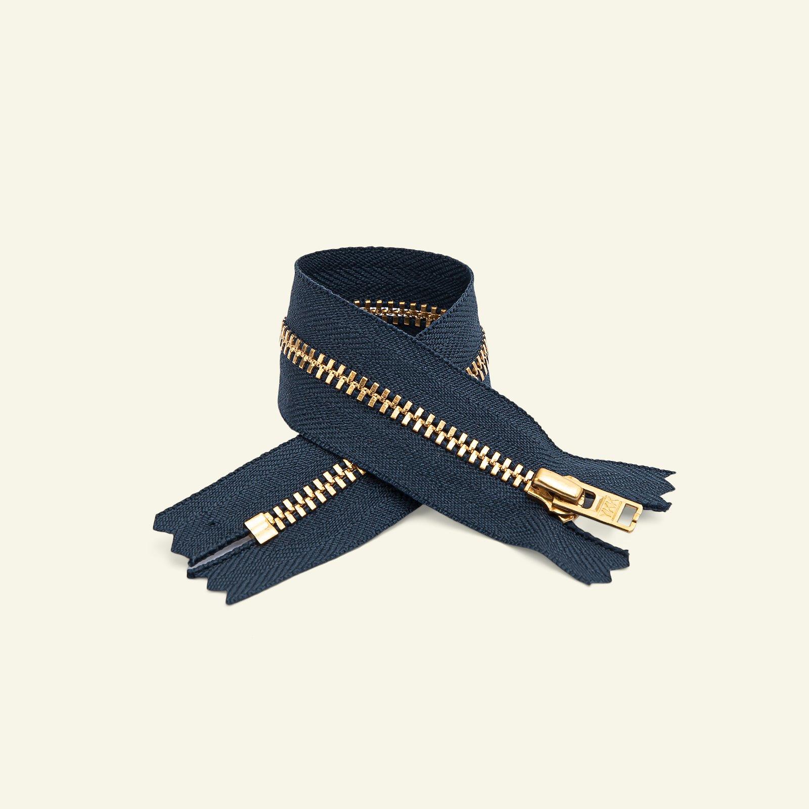 YKK zip 4mm trousers closed 8cm navy x40023_pack
