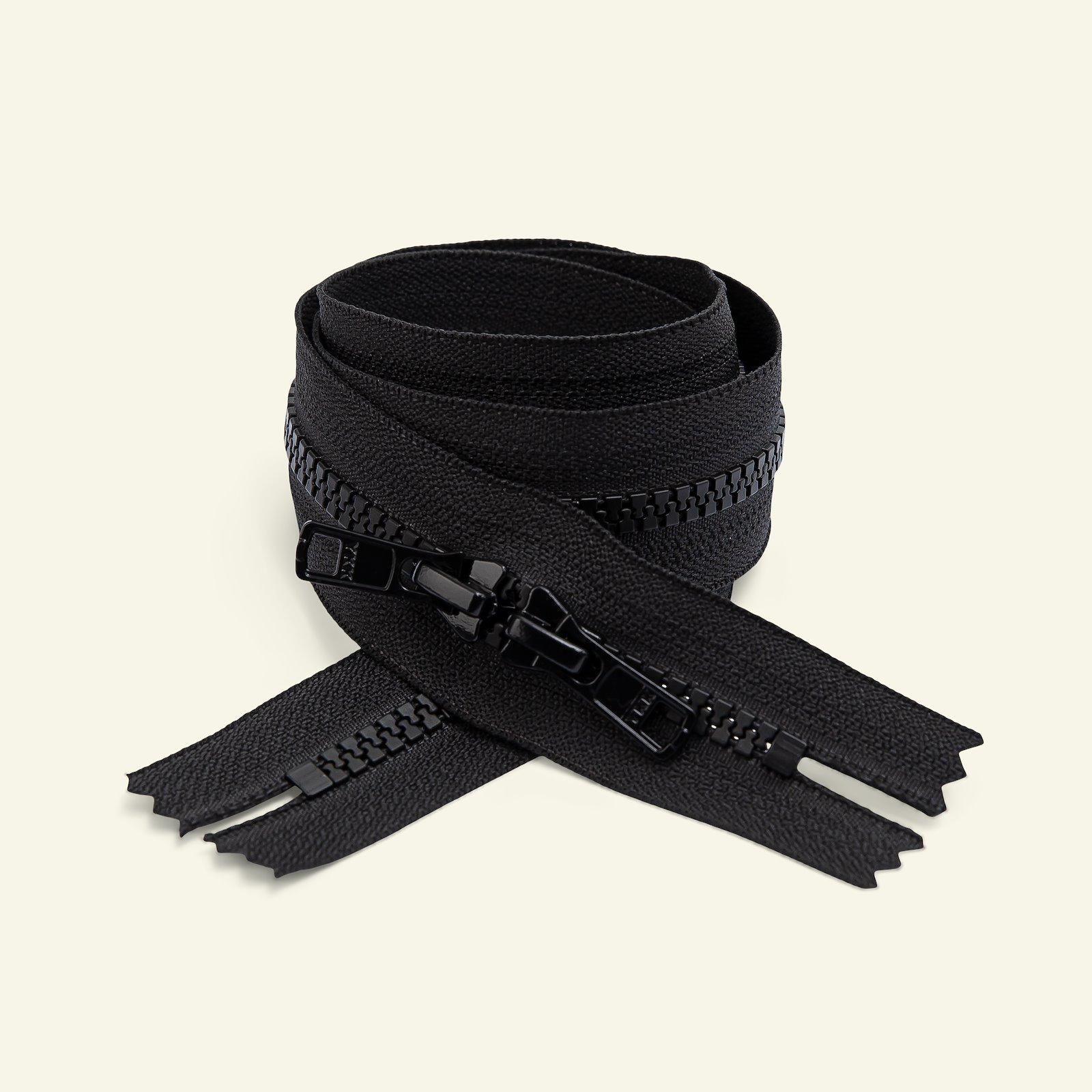 YKK zip 6mm 2-way closed end 70cm black x51243_pack