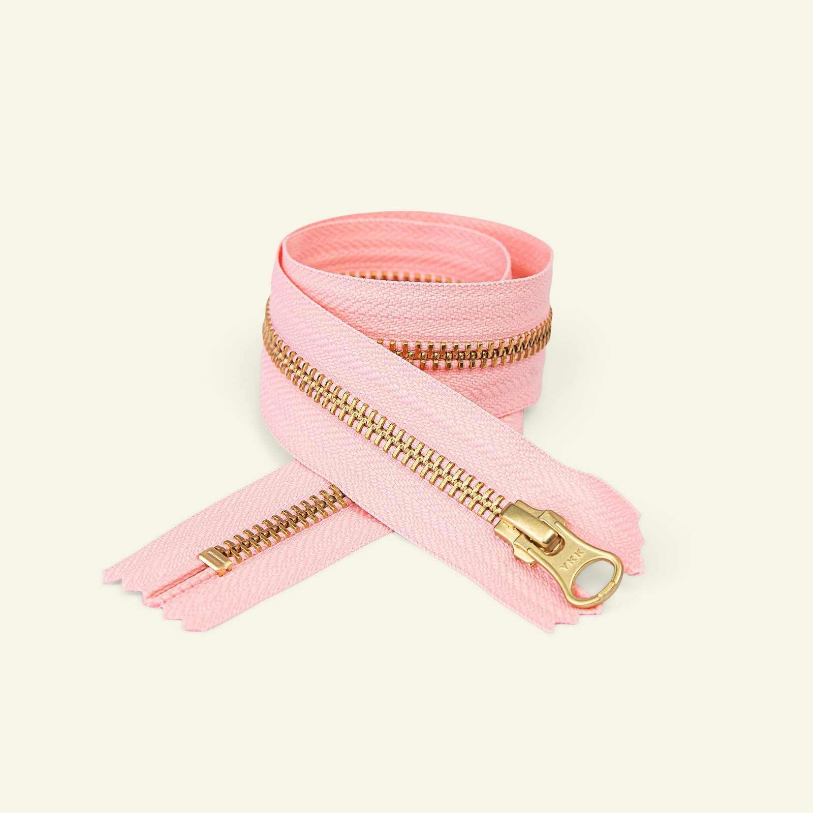 YKK zip 6mm closed end 15cm pink/gold x59308_pack
