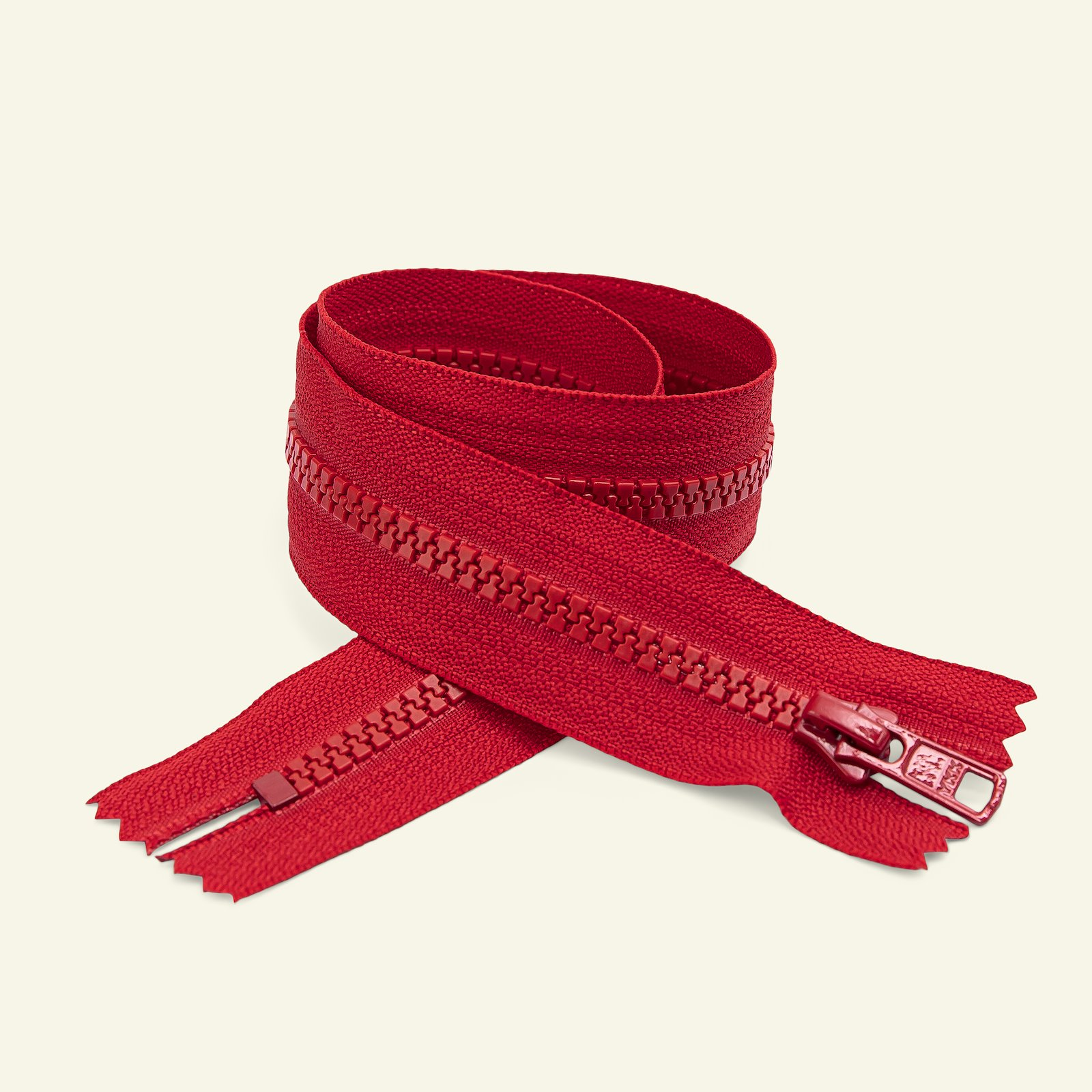 YKK zip 6mm closed end 40cm red x50111_pack