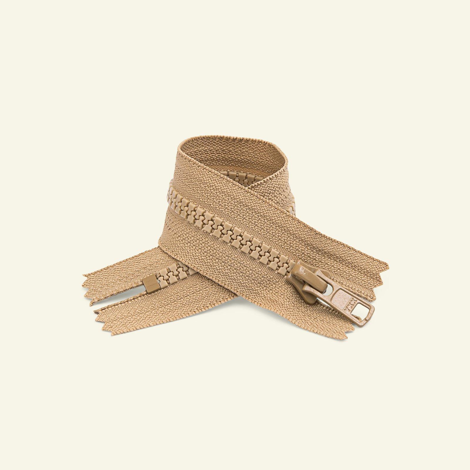 YKK zip 6mm closed end 45cm dark beige x50130_pack