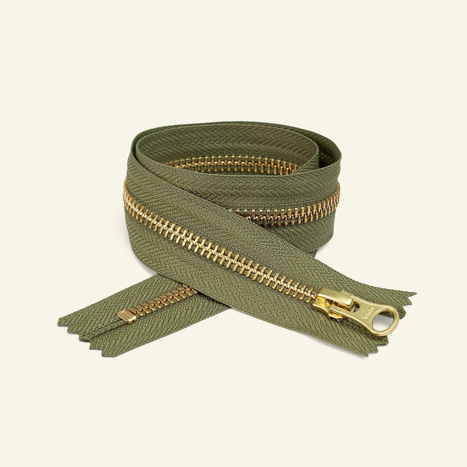 YKK zip 6mm closed end 50cm l. army/gold x59333_pack