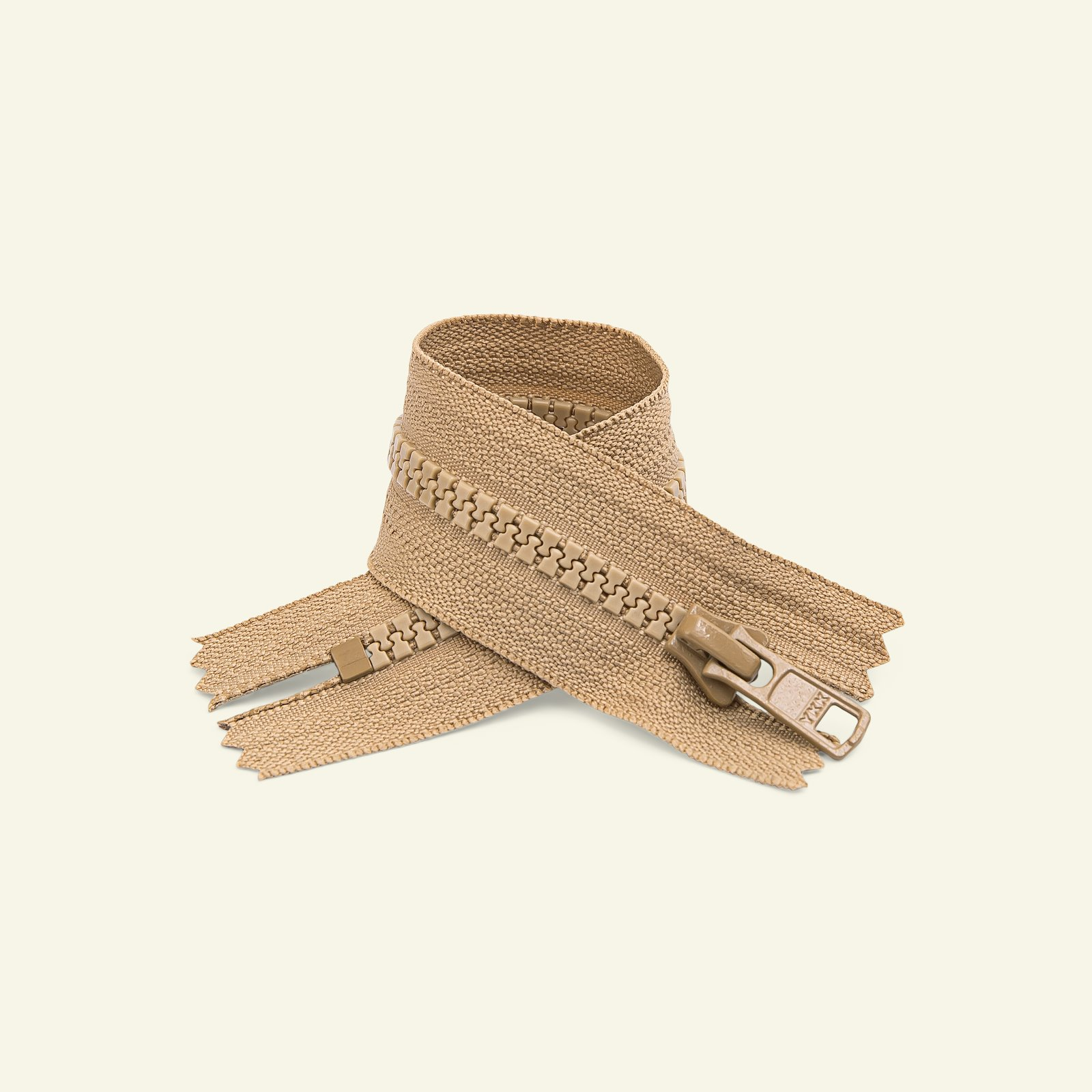 YKK zip 6mm closed end dark beige x50130_pack