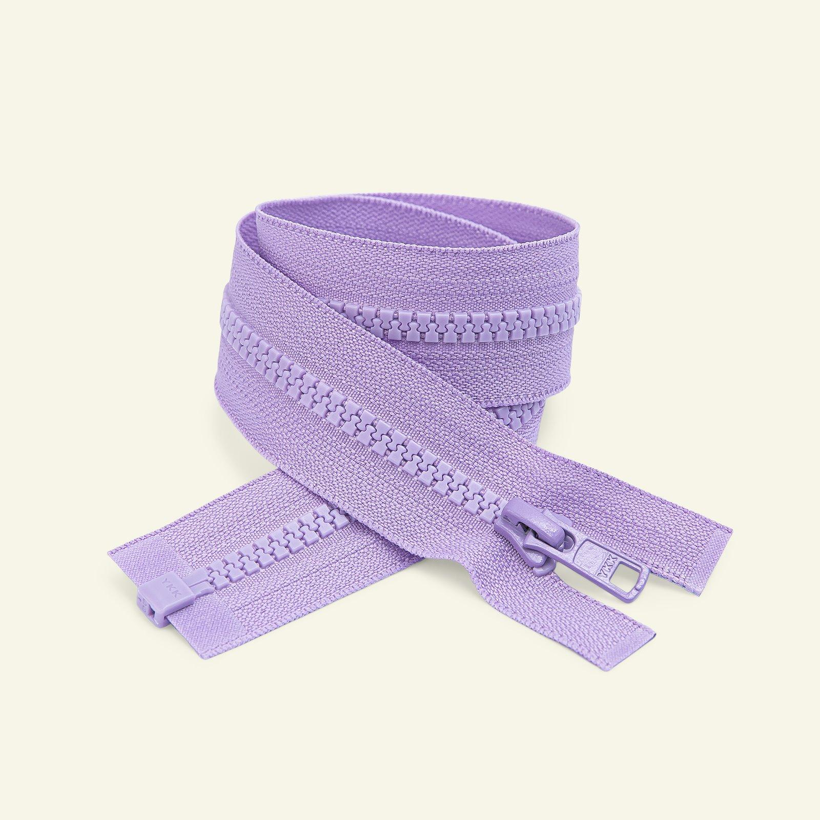 YKK zip 6mm open end 20cm light purple x50018_pack