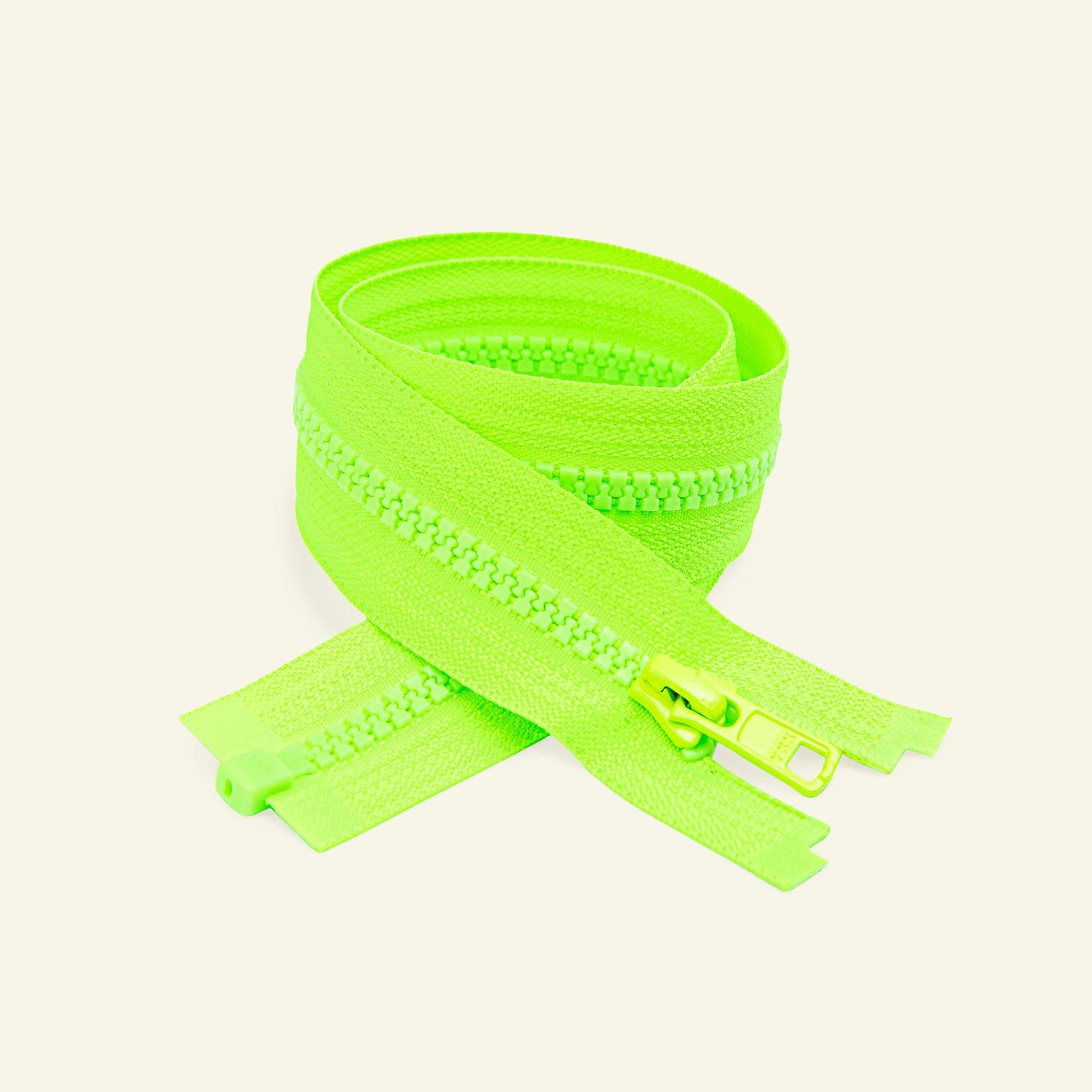YKK zip 6mm open end 40cm neon green x50086_pack