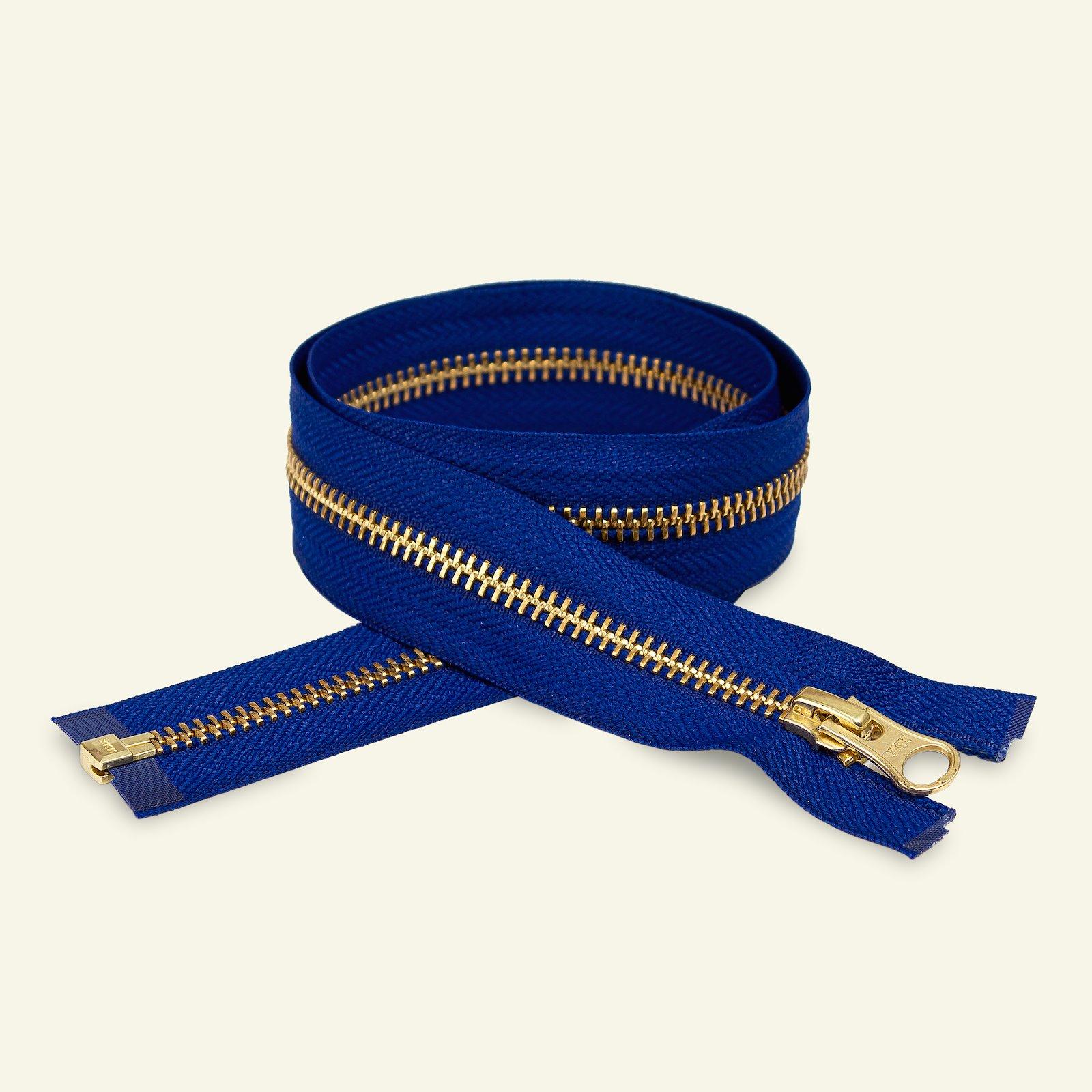 YKK Zip 6mm open end 45cm cobalt/gold x59422_pack