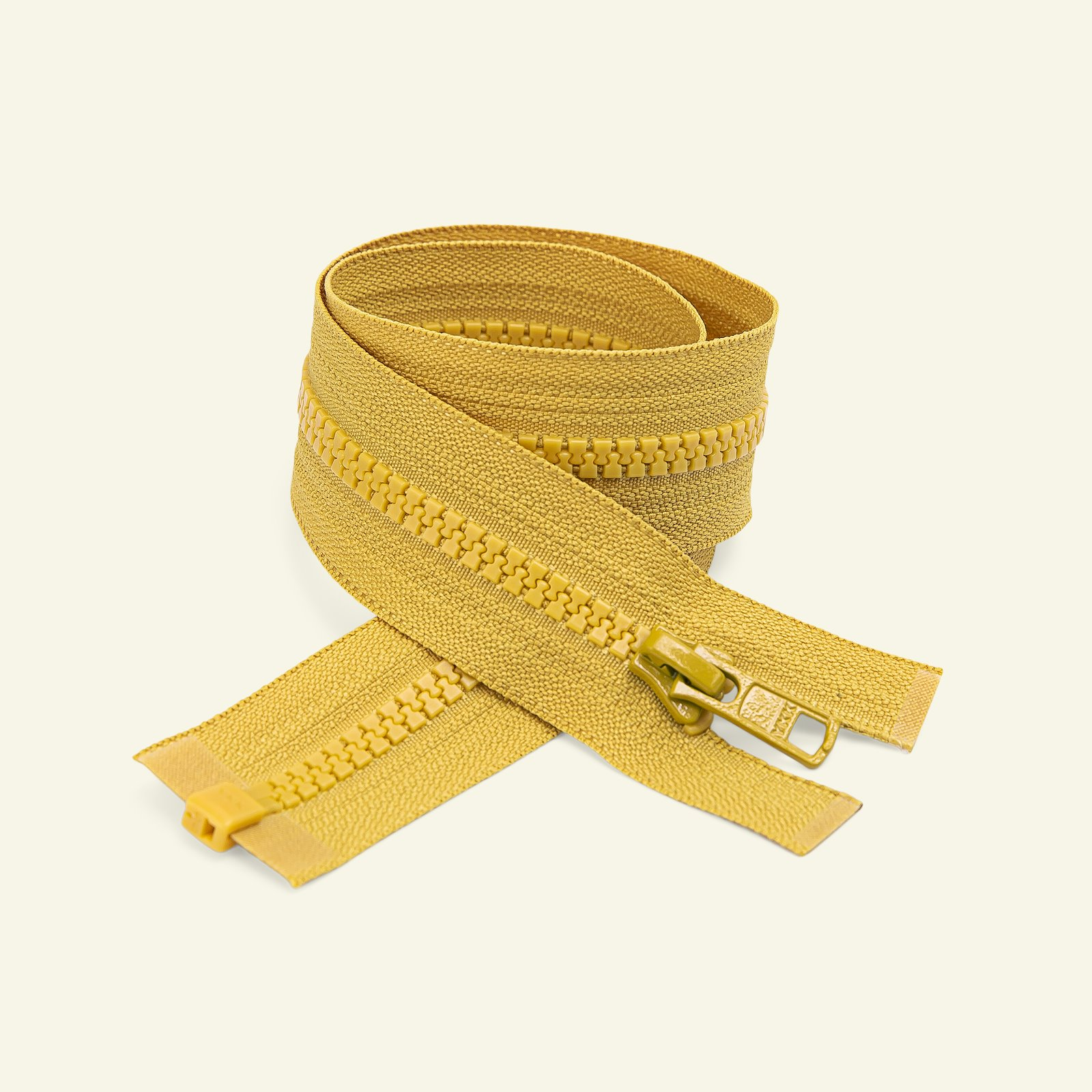 YKK zip 6mm open end 50cm curry x50035_pack