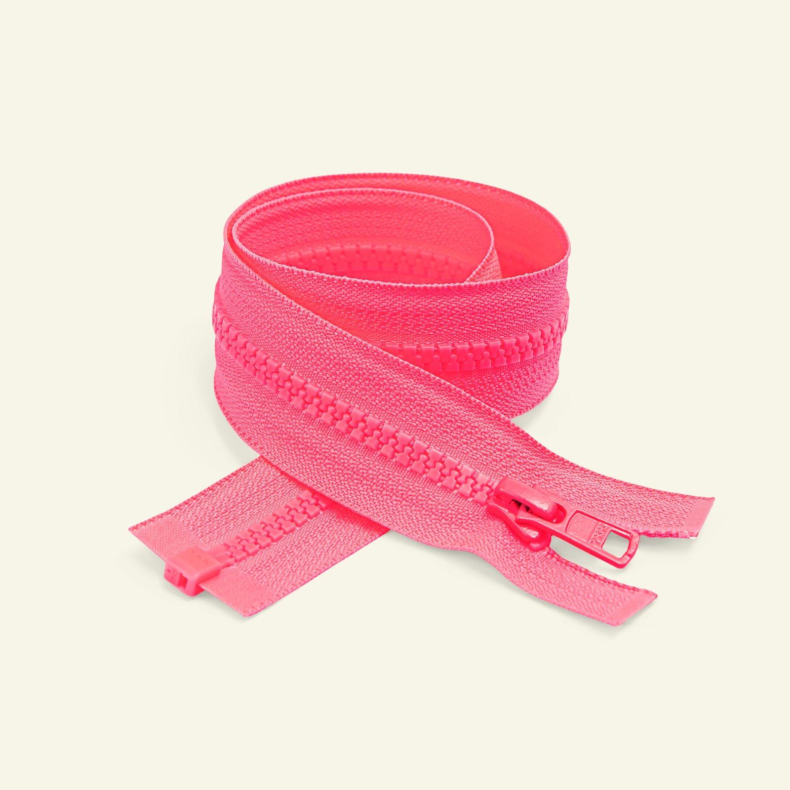 YKK zip 6mm open end 60cm neon pink x50084_pack