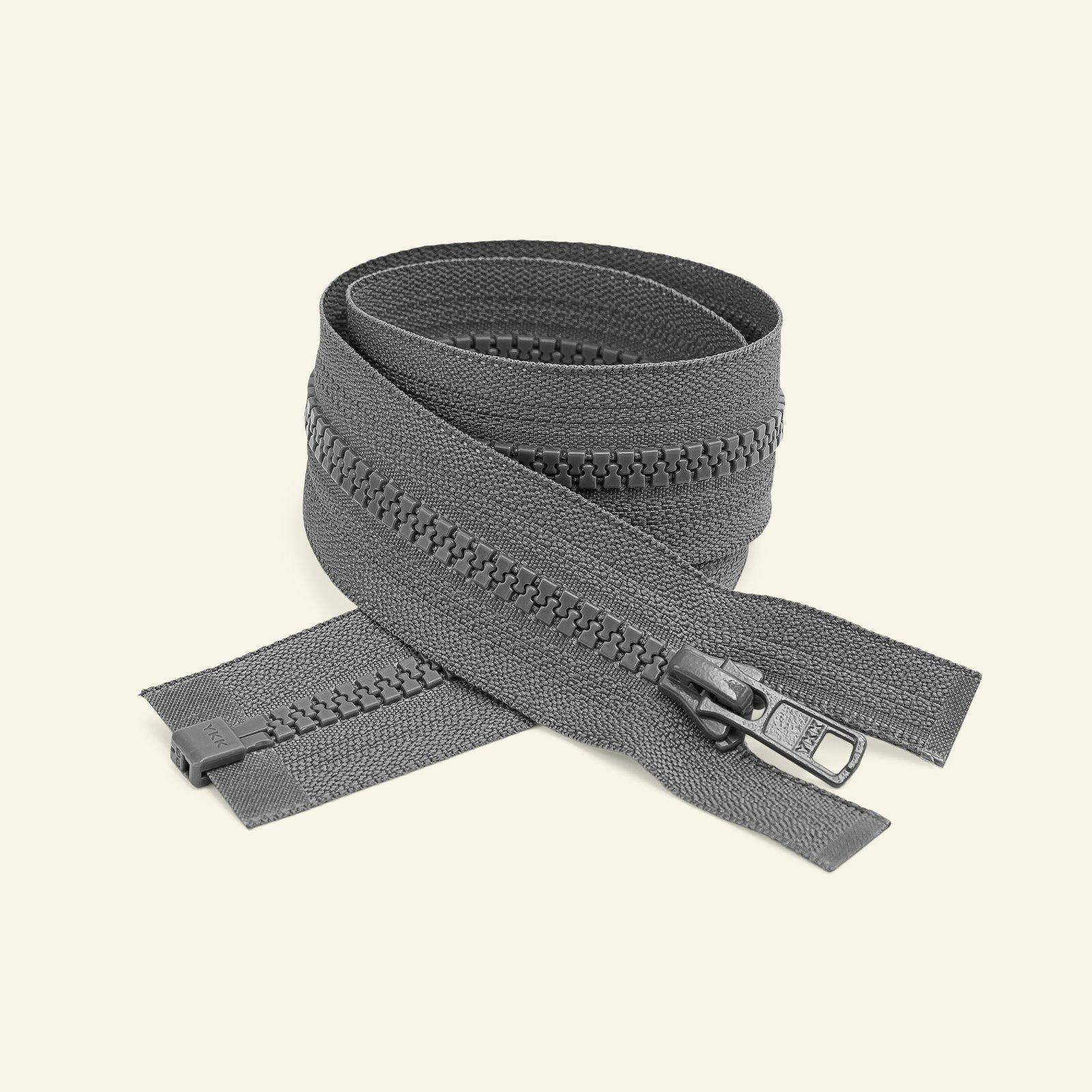 YKK zip 6mm open end 65cm grey x50041_pack