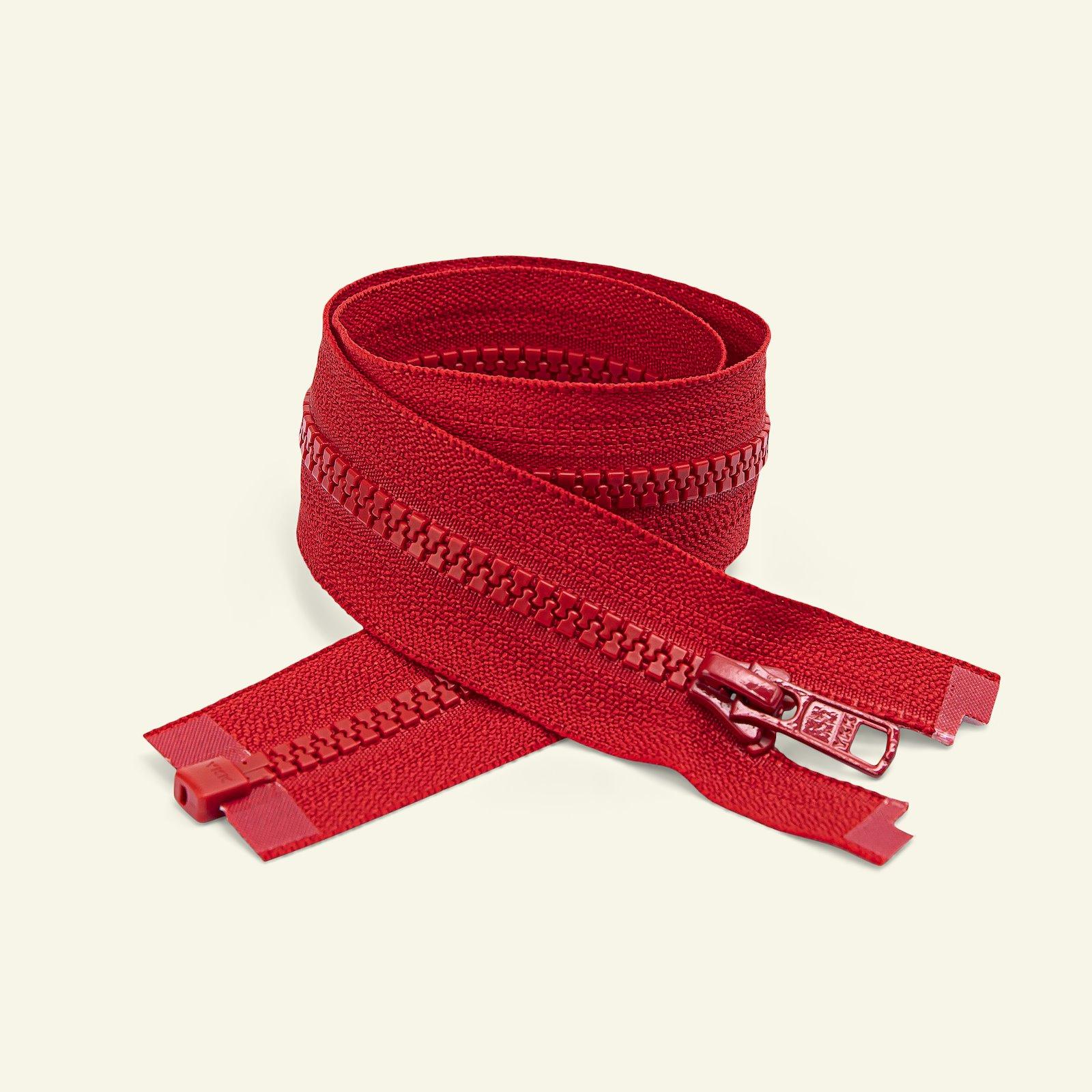 YKK zip 6mm open end 65cm red x50011_pack