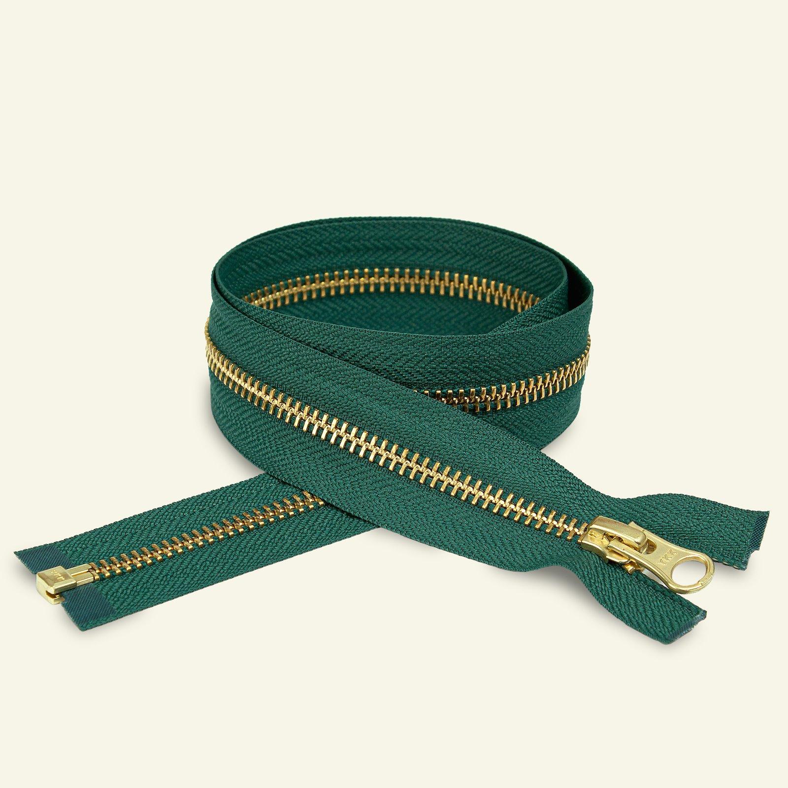 YKK Zip 6mm open end 75cm green/gold x59427_pack