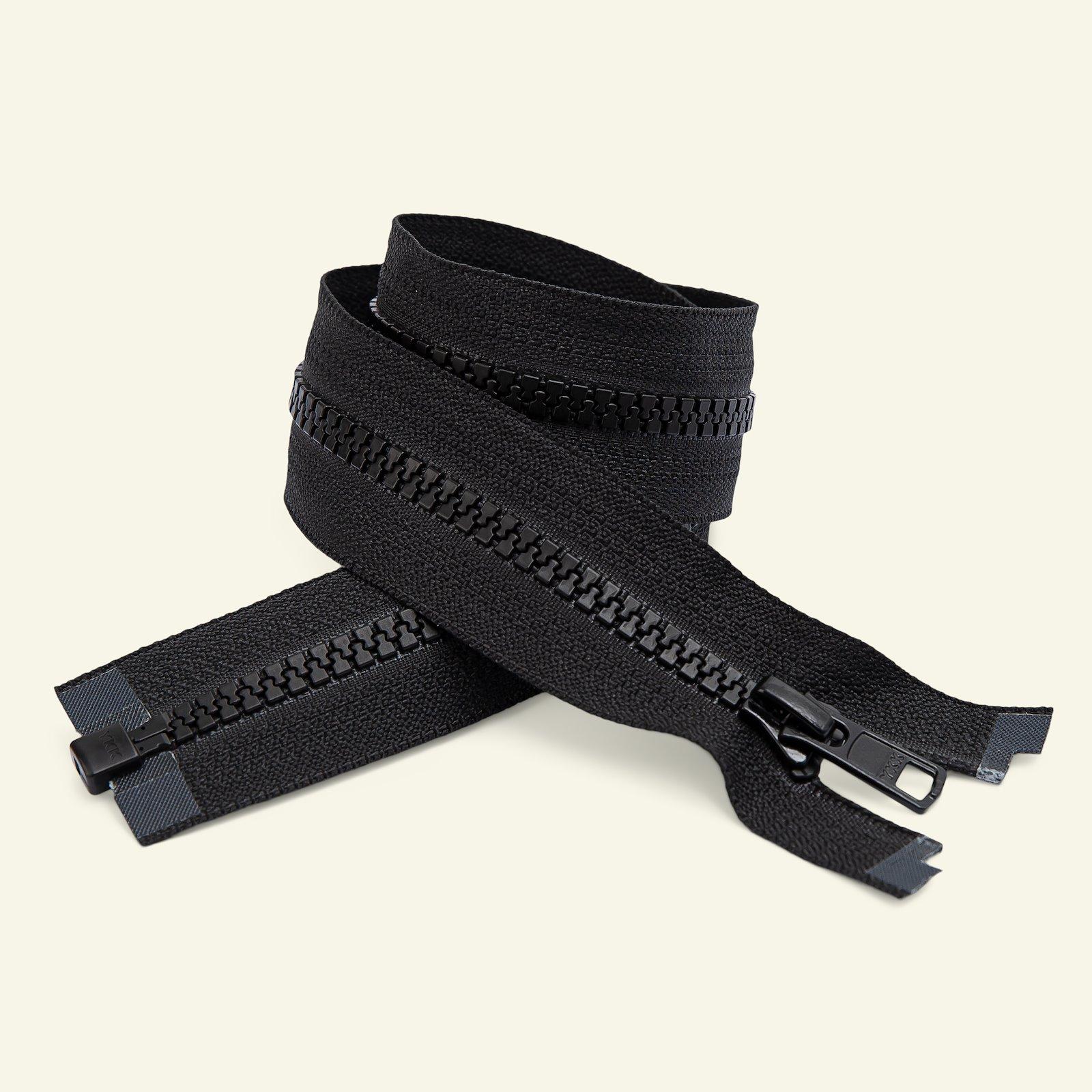YKK zip 6mm open end 80cm black x50043_pack