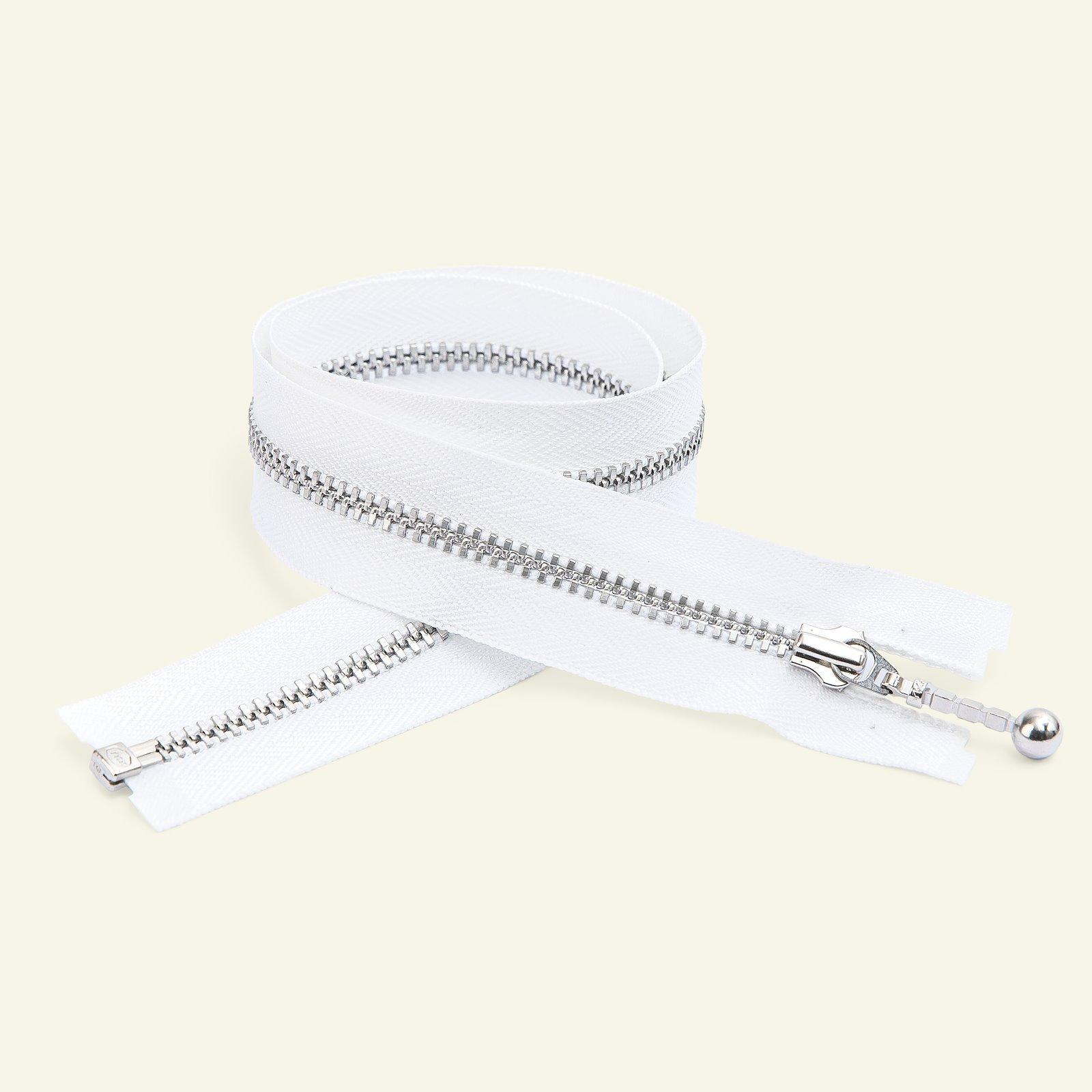 YKK zip w/bar puller open end 20cm white x59501_pack